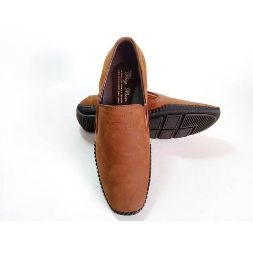 Giày Mọi BIGBEN May Viền Da Bò Thật Cao Cấp CS62