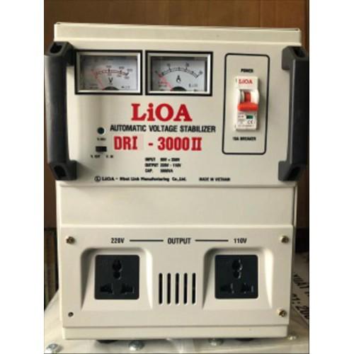 Ổn áp 1 pha LIOA DRI-3000II 3kVA điện áp vào 90V-250V-Thế hệ mới 2018