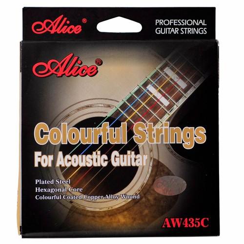dây đàn guitar acoustic alice AW435C dây màu chất lượng giá rẻ