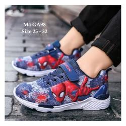 Giày siêu nhân bé trai giày thể thao bé trai spiderman GA98