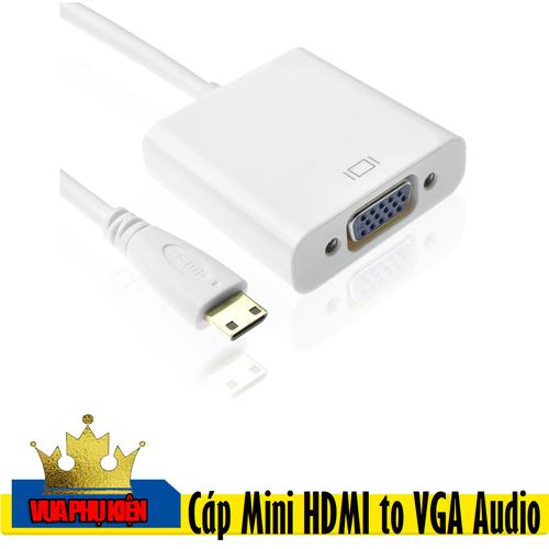 Cáp Chuyển Đổi Mini HDMI ra VGA Có Âm Thanh - 5837107 , 12334804 , 15_12334804 , 175000 , Cap-Chuyen-Doi-Mini-HDMI-ra-VGA-Co-Am-Thanh-15_12334804 , sendo.vn , Cáp Chuyển Đổi Mini HDMI ra VGA Có Âm Thanh