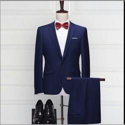 Bộ đồ vest nam gồm áo vest quần tặng ngay sơ mi trắng cao cấp - CBVCC