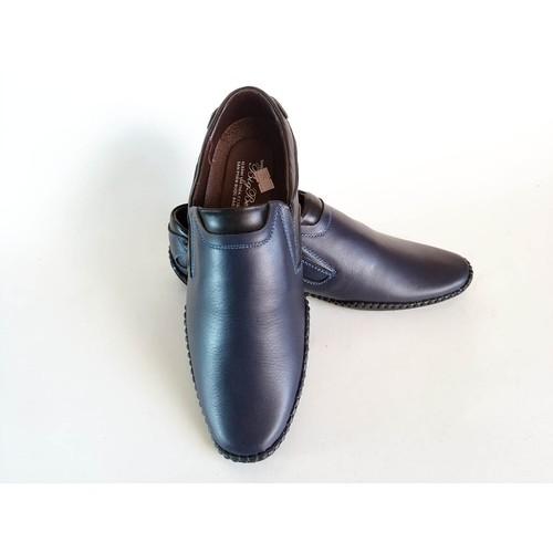 Giày Mọi BIGBEN May Viền Da Bò Thật Cao Cấp CS55
