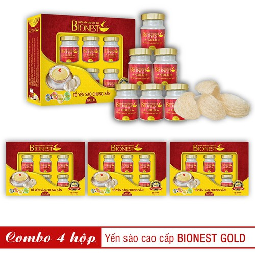 Bộ 4 hộp Yến sào Bionest Gold cao cấp - hộp quà tặng 6 lọ - 5838484 , 12337069 , 15_12337069 , 1036000 , Bo-4-hop-Yen-sao-Bionest-Gold-cao-cap-hop-qua-tang-6-lo-15_12337069 , sendo.vn , Bộ 4 hộp Yến sào Bionest Gold cao cấp - hộp quà tặng 6 lọ