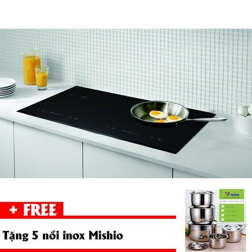 Bếp điện từ đôi cao cấp Kachi MK75 tặng bộ 5 nồi inox mishio