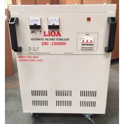 Ổn áp 1 pha LIOA DRI-15000II 15kVA điện áp vào 90V-250V- mới 2018