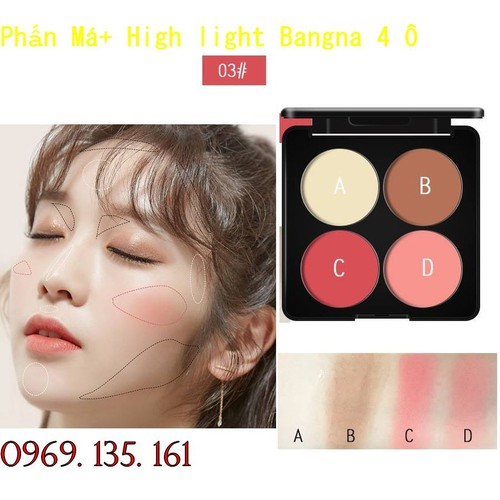 Phấn Má+ High light Bangna 4 Ô