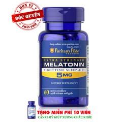 Giảm mất ngủ Extra Strength Melatonin puritans pride - 29623
