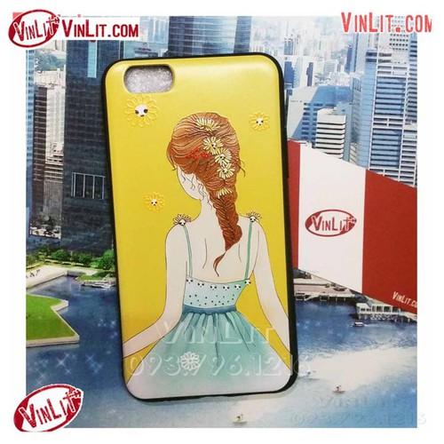 Ốp lưng Oppo F3 Oppo A77 silicon hình cô gái vàng