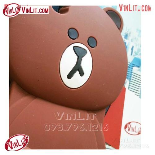 Ốp lưng Oppo R7s silicon thú gấu Brown