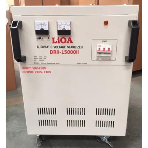 Ổn áp 1 pha LIOA DRII-15000II 15kVA điện áp vào 50-250V-Thế hệ 2018