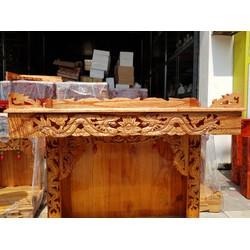 Bàn thờ treo tường gỗ xoan trạm rồng ngang 88 cm