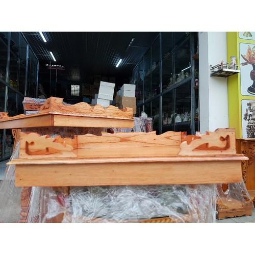 Bàn thờ treo tường gỗ xoan ngang 50 cm
