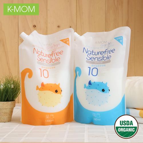 Gói Nước xả vải sơ sinh hữu cơ organic K-Mom Hàn Quốc 1300ml