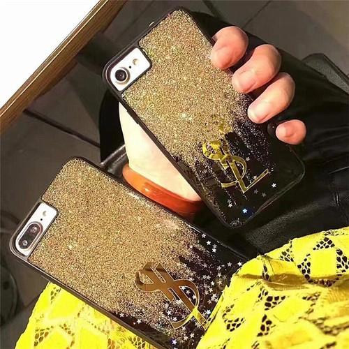 Ốp lưng iphone 6, iphone 7 đá nhũ chảy