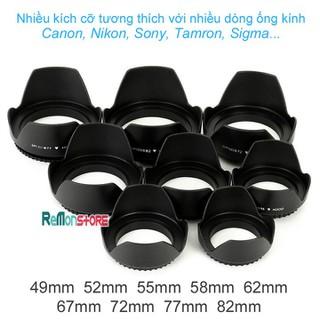 Lens hood Loa che nắng hoa sen vặn ren ống kính phi 52mm dùng cho tất cả ống kính cỡ 52mm - HO-Hoasen-52mm thumbnail
