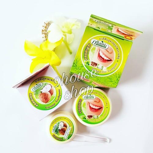 Kem Trắng Răng GREEN HERB Thái Lan 25g tặng kèm hộp nhỏ