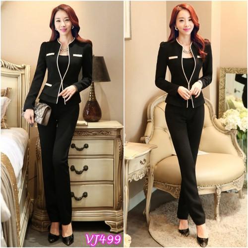 Set nguyên bộ đồ vest phối viền kèm áo trong Vj499 - V225 - 5845908 , 12349487 , 15_12349487 , 325000 , Set-nguyen-bo-do-vest-phoi-vien-kem-ao-trong-Vj499-V225-15_12349487 , sendo.vn , Set nguyên bộ đồ vest phối viền kèm áo trong Vj499 - V225