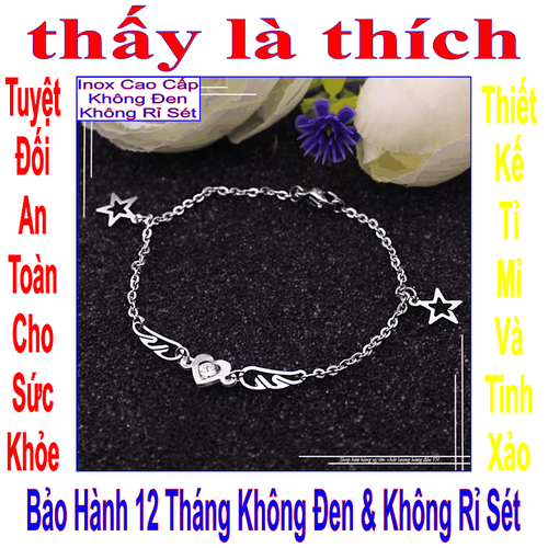 Lắc tay inox nữ kiểu đôi cách thiên thần kết hợp trái tim - 5852223 , 12356420 , 15_12356420 , 39000 , Lac-tay-inox-nu-kieu-doi-cach-thien-than-ket-hop-trai-tim-15_12356420 , sendo.vn , Lắc tay inox nữ kiểu đôi cách thiên thần kết hợp trái tim