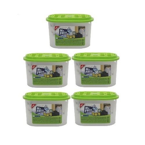 Bộ 5 Bình hút ẩm than hoạt tính khử khuẩn Mr Fresh Hàn Quốc 256g