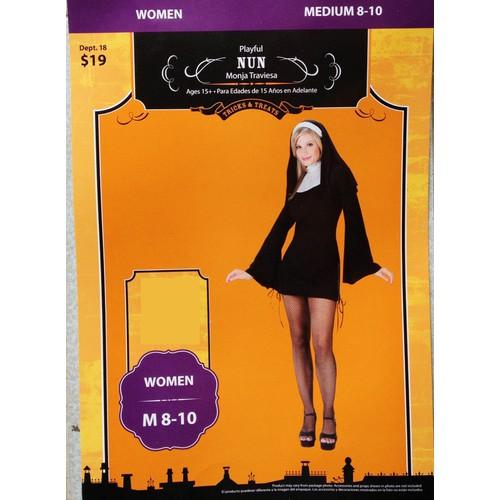 Bộ áo hóa trang nhân vật nữ tu ma sơ masoeur đầm quần đen tay dài
