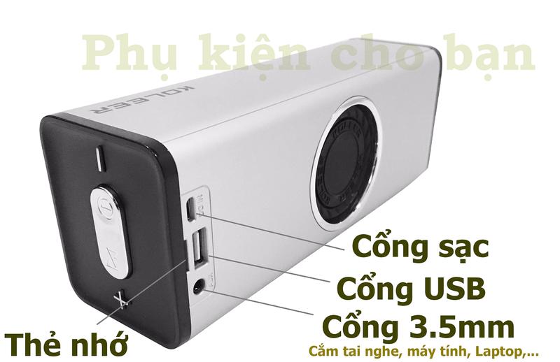 Loa Bluetooth Bass âm Thanh Sống Động chuẩn HIFI PKCB H5 3 trong 1 4