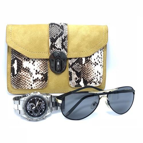 Túi xách đeo chéo họa tiết hình da trăn