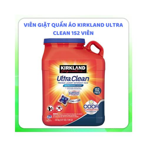 Viên giặt xả quần áo Kirkland Ultra Clean|vien giat quan ao kirkland xuất xứ Mỹ 152 viên
