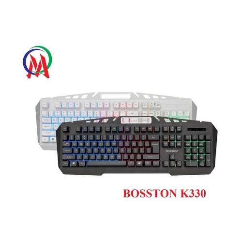 BÀN PHÍM BOSSTON K330 USB GIẢ CƠ LED 7 MÀU