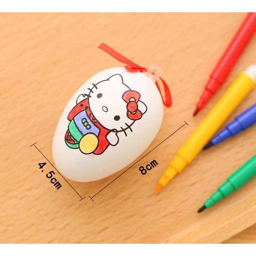 [COMBO SỈ] - 50 túi trứng tô màu kèm bút màu cho trẻ em