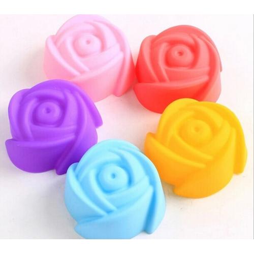 Combo 10 khuôn silicon hình hoa hồng làm bánh làm thạch
