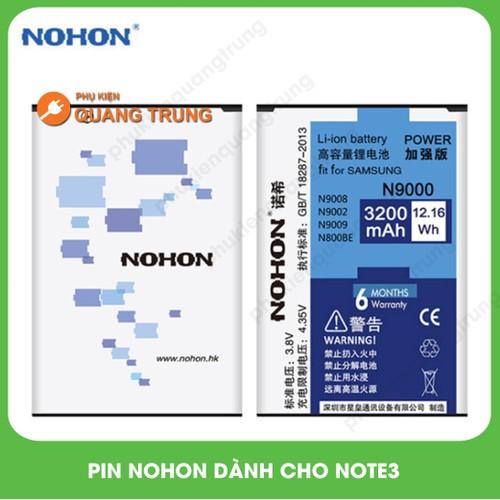 pin điện thoại samsung Note 3 hãng Nohon cao cấp - Bảo hành 6 tháng