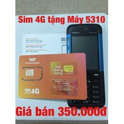 Sim số 4G tặng máy điện thoại 5310