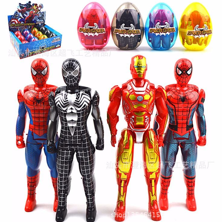 Combo 4 quả trứng biến hình siêu anh hùng cho trẻ em
