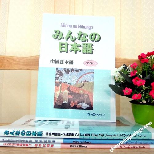 Giáo Trình Minna no Nihongo Trung Cấp 2 Bản Tiếng Nhật +Kèm CD