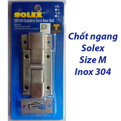 Chốt cửa ngang Solex Size M - Inox 304