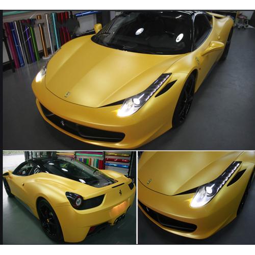 Decal trang trí cho xe nhôm xước gold aluminium 1.52 x 1m - best seller tony