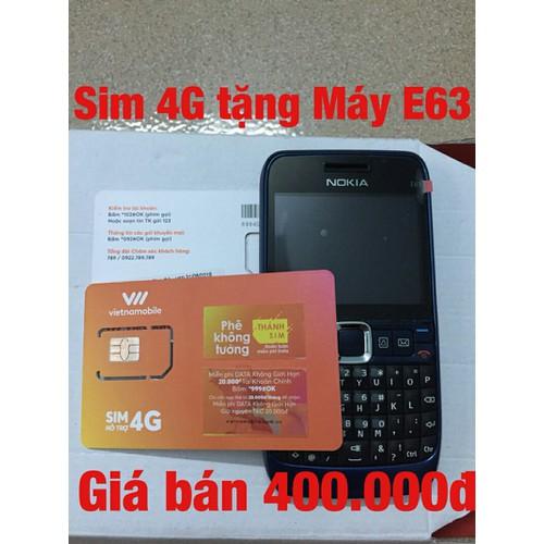 Sim số 4G tặng máy điện thoại E63