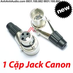 Jack Canon Cong cao cấp OEM , rắc canon chữ L