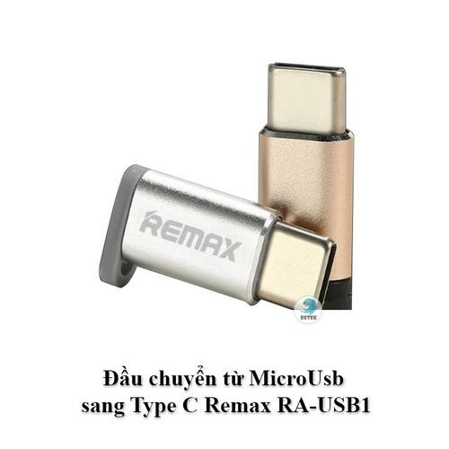 Đầu chuyển từ MicroUsb sang Type C Remax RA-USB1
