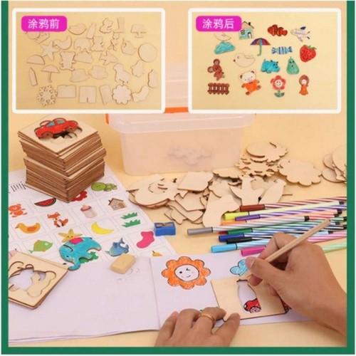 Bộ khuôn vẽ cho trẻ em Kèm quà tặng
