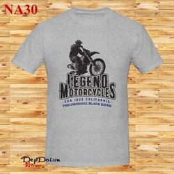 Áo thun nam ngắn tay Legend Motorcycles NA30 - Nhiều màu