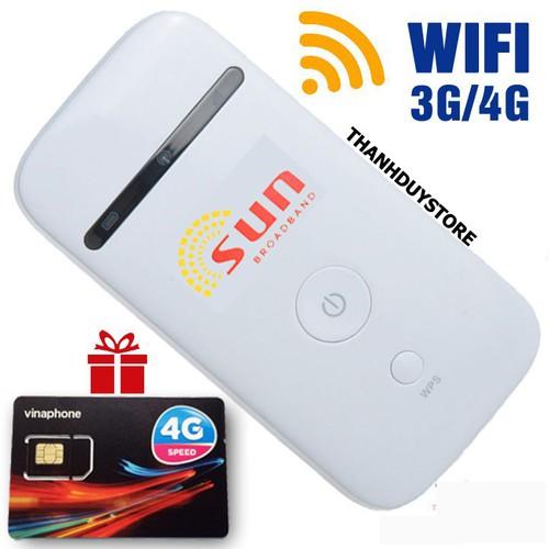 Bộ Phát Wifi Di Động ZTE MF65 - Tặng kèm sim 4G viettel 62GB