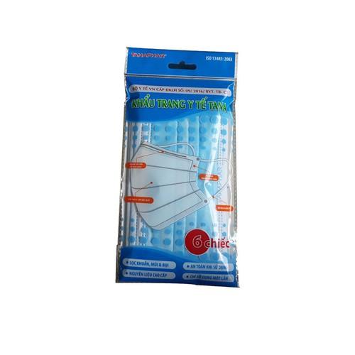 Combo 10 túi Khẩu trang y tế Tanaphar tuần 6 cái