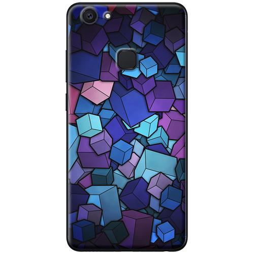 Ốp lưng nhựa dẻo Vivo V7 Hình hộp xanh tím