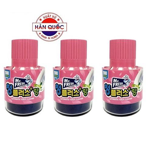 Bộ 3 Chai thả bồn cầu diệt khuẩn và làm thơm Hương Hoa Ly Mr.Fresh