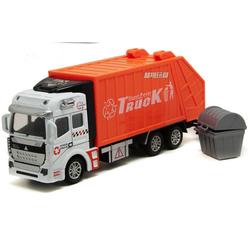 Mô hình xe ô tô chở rác đồ chơi trẻ em tỉ lệ 1:48 chạy cót