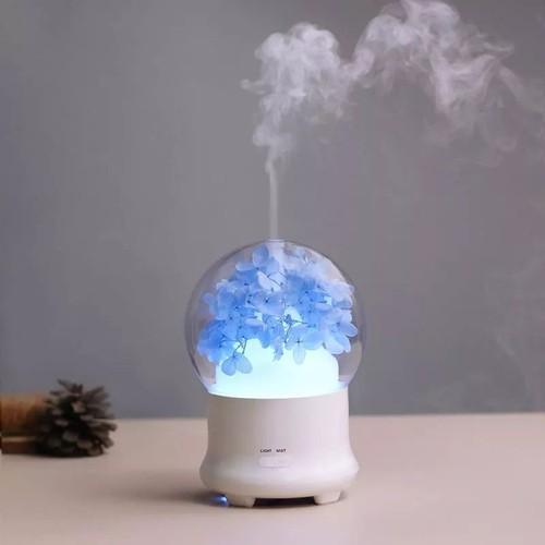 Máy tạo ẩm phun sương tinh dầu Flower tặng kèm tinh dầu
