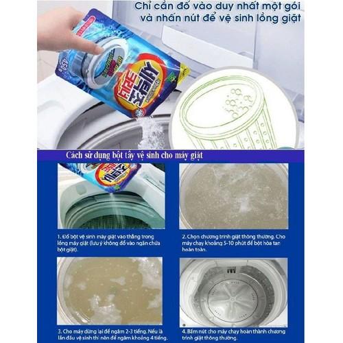 Combo 2 gói bột tẩy vệ sinh lồng máy giặt Hàn Quốc 450g - 5883230 , 12390140 , 15_12390140 , 131000 , Combo-2-goi-bot-tay-ve-sinh-long-may-giat-Han-Quoc-450g-15_12390140 , sendo.vn , Combo 2 gói bột tẩy vệ sinh lồng máy giặt Hàn Quốc 450g