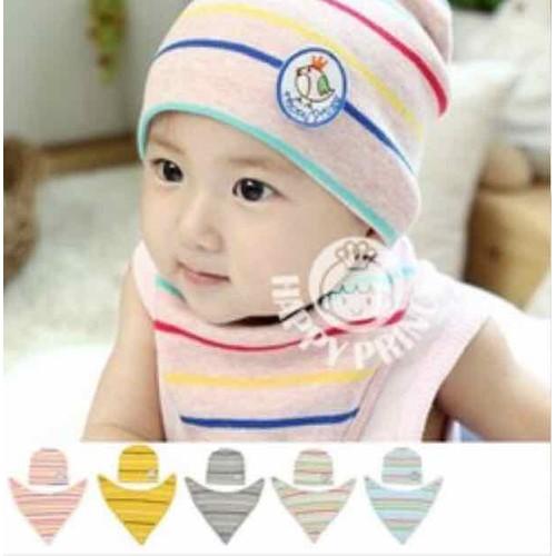 bộ khăn mũ mỏng cho bé từ 6 tháng đến 12 tháng